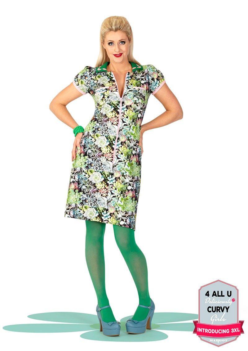 ed5e9b7c1c28 Skøn Margot kjole SUE SUMMERRAIN no 733 fra MWMwear Kjoler Til Arbejde