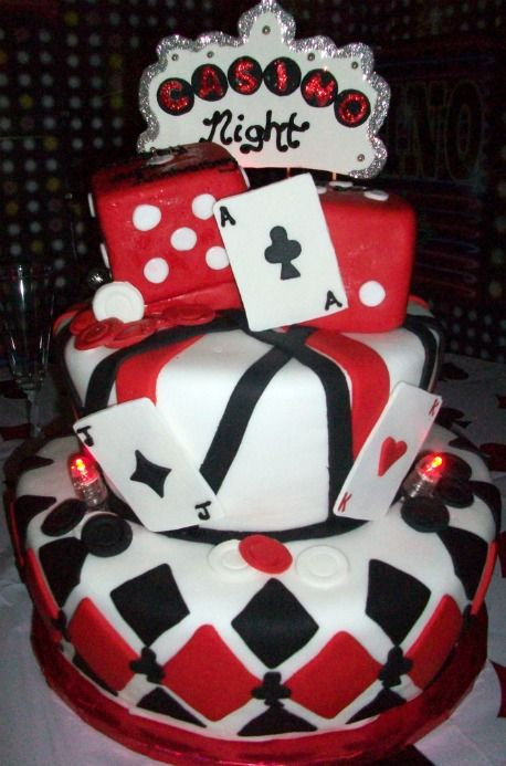 casino theme birthday cake x - Casino Party Decorations