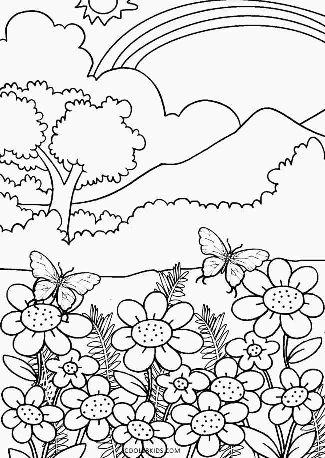 Nature Coloring Pages Coloring Pages Nature