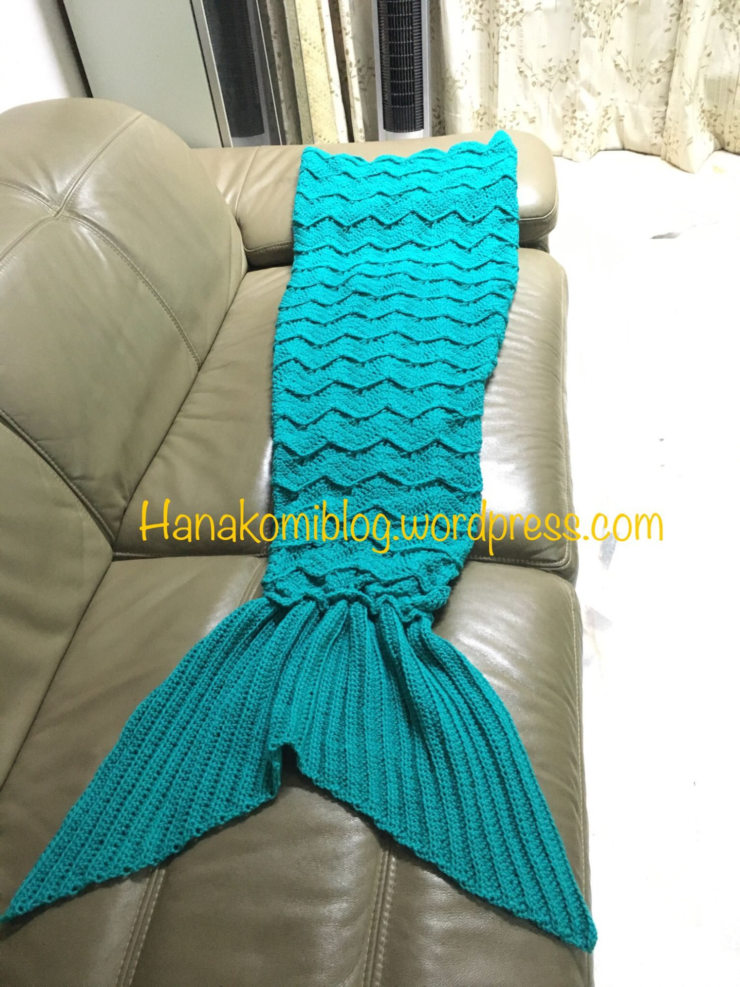 The Syira Aka Chevron Mermaid Tail Blanket Adult Free Crochet