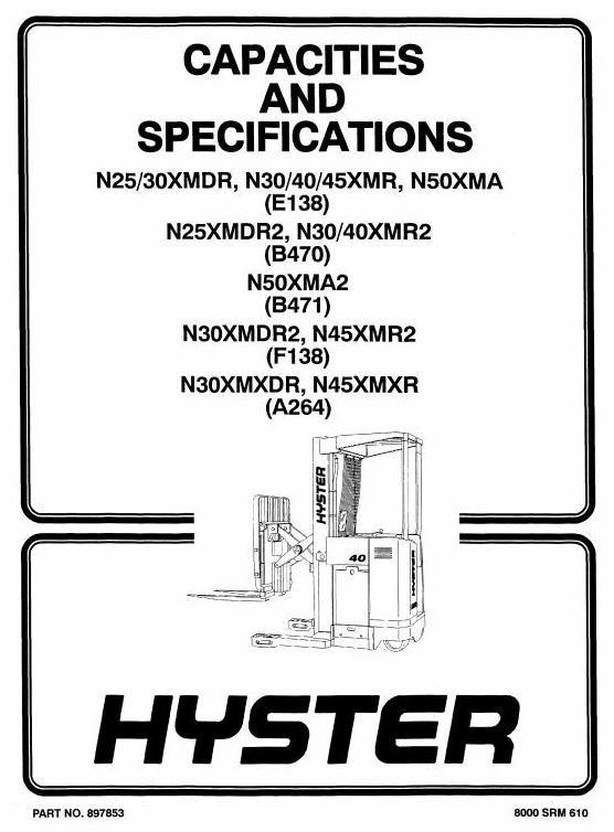 Hyster Electric Lift Truck Type A264: N30XMXDR, N45XMXR