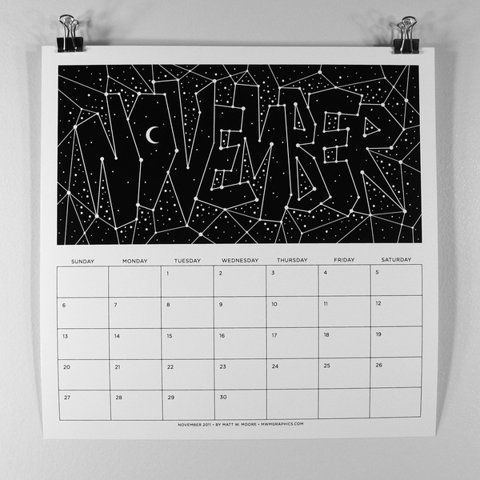 MWM : B/W Typography 2011 Calendar. on Typography Served