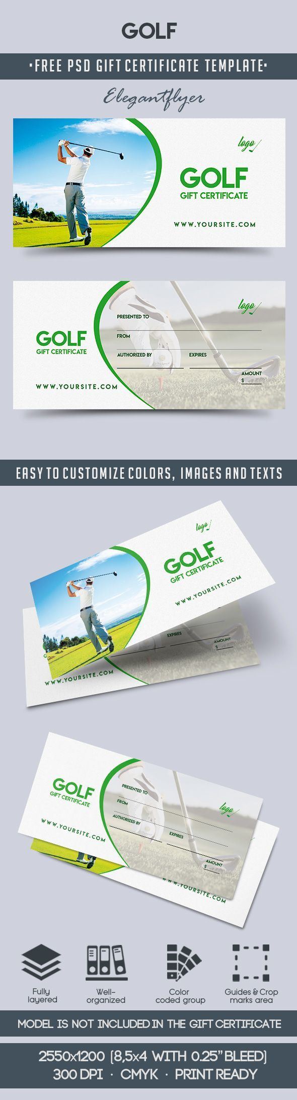 Golf Club Gift Vouchers Free Gift Certificate Template Gift