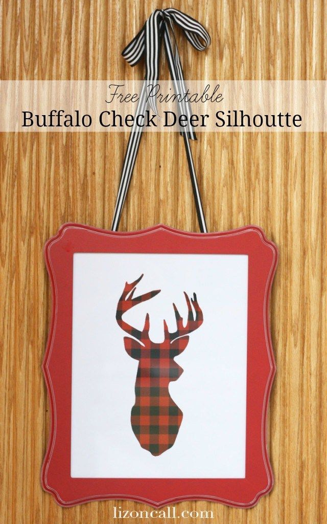 Great Ideas  17 Free Holiday Printables! is part of Buffalo check plaid, Buffalo check christmas, Buffalo plaid christmas, Holiday printables, Deer silhouette, Deer silhouette printable - The holidays are my favorite season for printables! There are so many uses and designs for the holidays and I love seeing what everyone comes up with