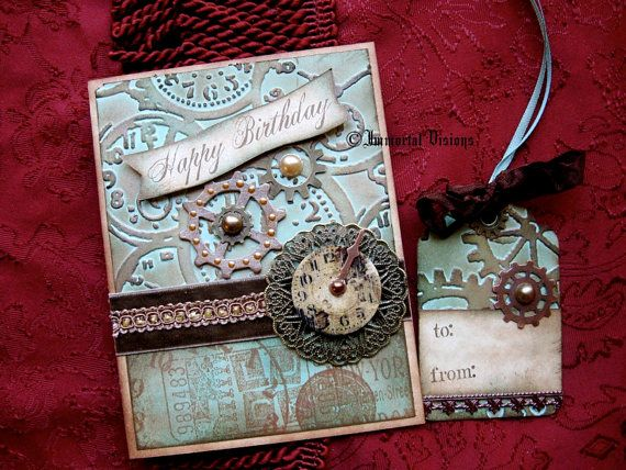 Steampunk Happy Birthday Greeting Card and Gift by ImmortalVisions – Steampunk Birthday Card