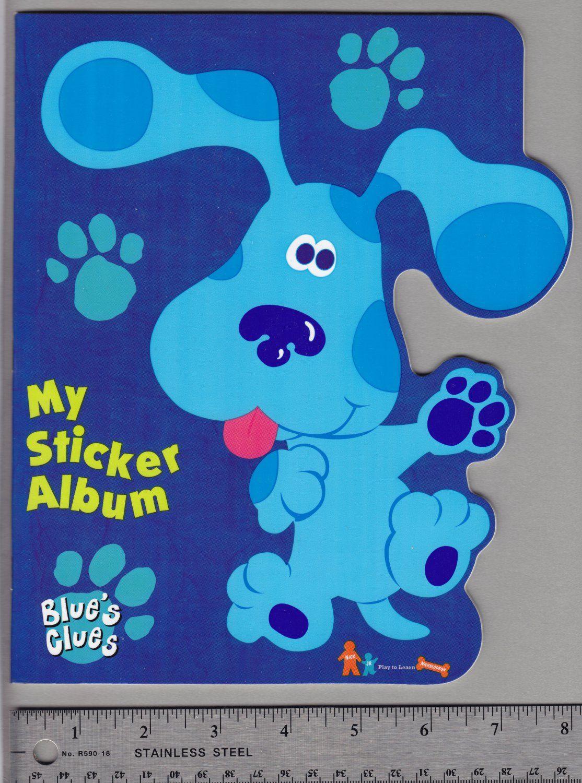 Sandylion Sticker Book Album Blue S Clues Nickelodeon Nick Jr Sticker Album Sticker Book Album Book