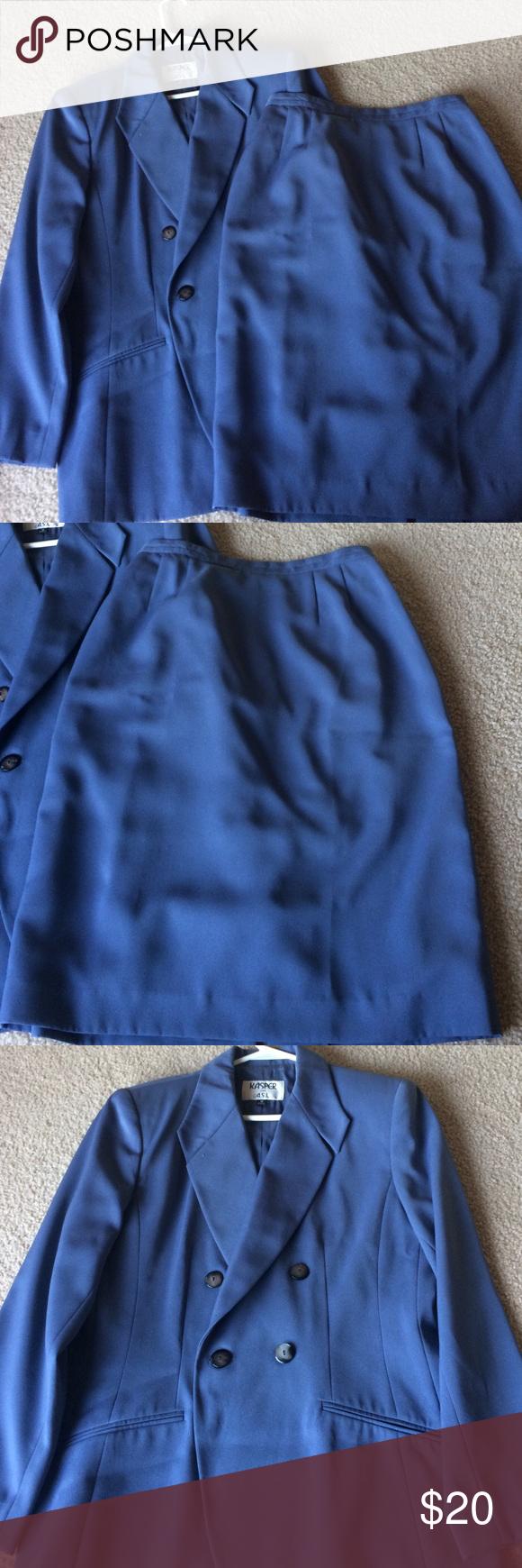 A light blue Casper size 10 skirt suit Casper size 10 skirt suit a light blue great condition you'll nailed that interview Kasper Other