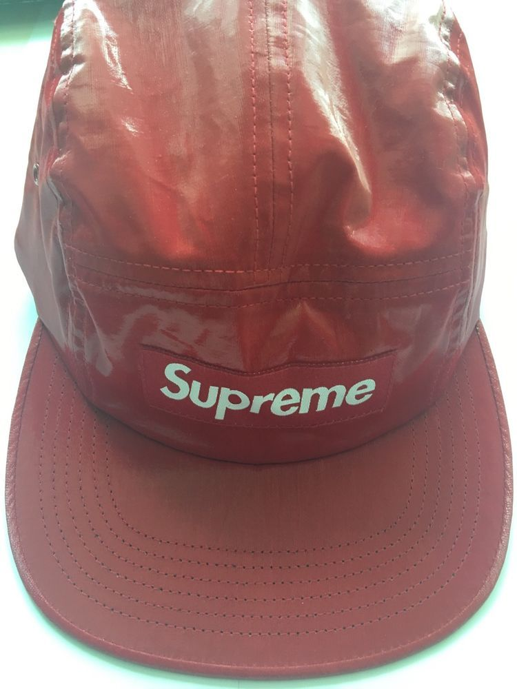91ae1e3112b Supreme Red Glossy Cap Free size  fashion  clothing  shoes  accessories   mensaccessories  hats (ebay link)