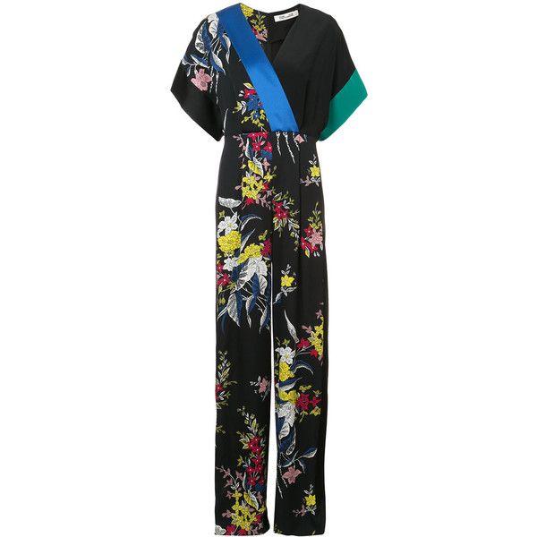 Dvf Diane Von Furstenberg Short Sleeve Wrap Jumpsuit ($528) ❤ liked ...