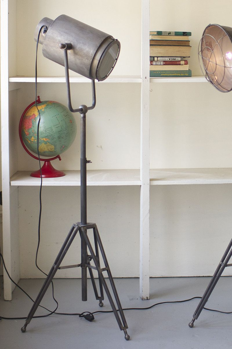"""Inspired by industrial studio lighting, this floor lamp is the perfect focal piece for your living room. It's adjustable base makes it a great fit for your space, no matter the size. 20"""" x 20"""" (52"""" - 72""""t)"""