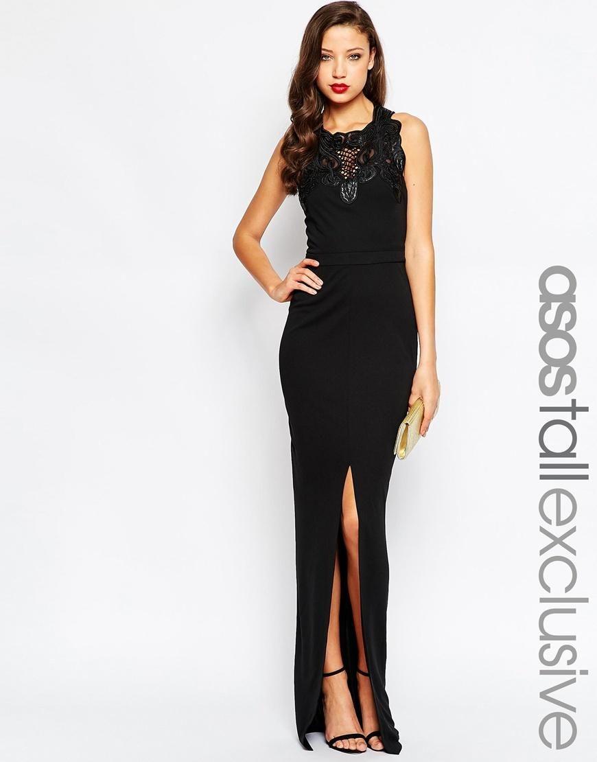ASOS Tall   ASOS TALL RED CARPET Lace Trim Maxi Dress at ASOS ...