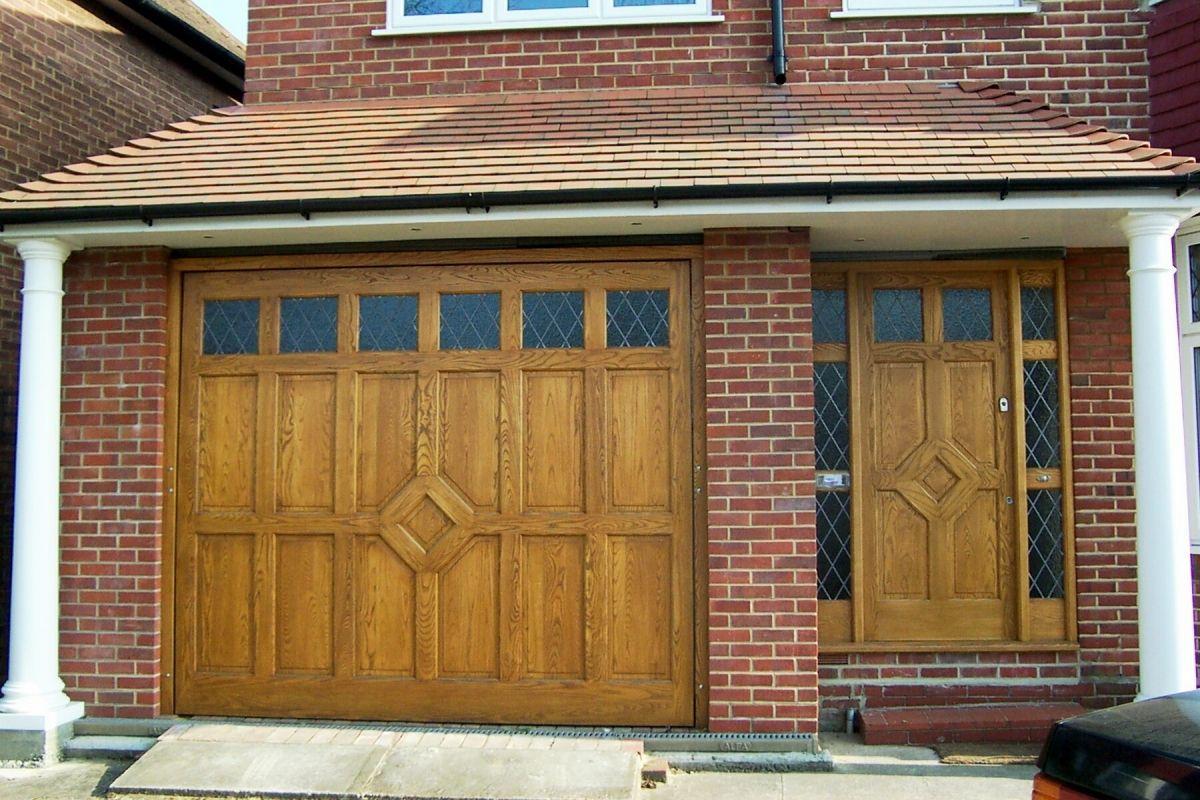 Wooden Garage Doors With Windows Minimalist Home Design