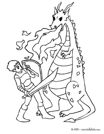 Http Images Hellokids Com Uploads Tiny Galerie 20100831 Dragon Against Knight 01 Vy5 Th9 Jpg Dragon Coloring Page Coloring Pages Drawing For Kids