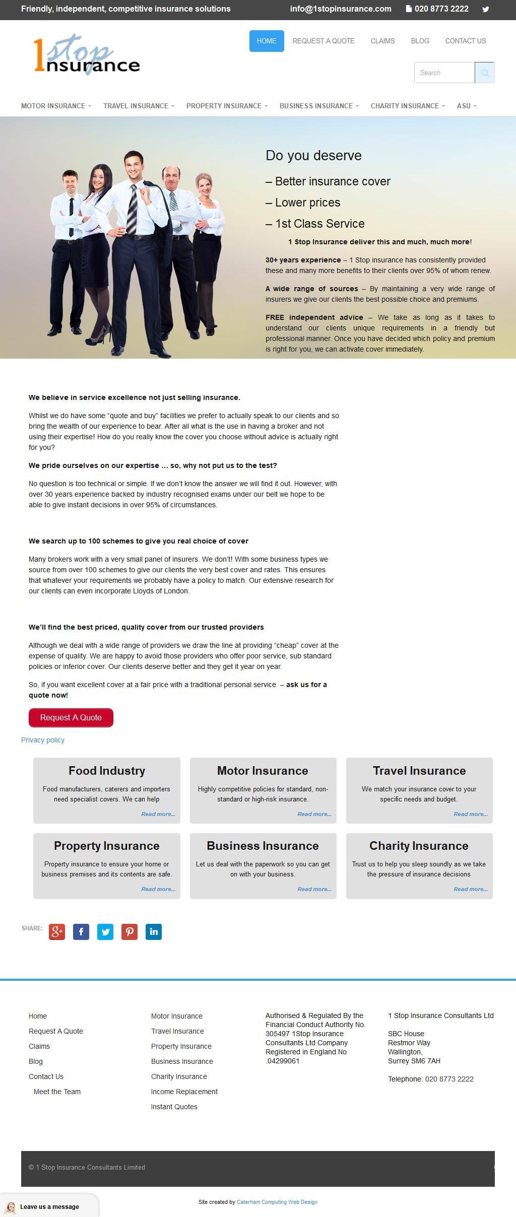 1stop Insurance Insurance Services Unit B2 Mill Green Business Pk