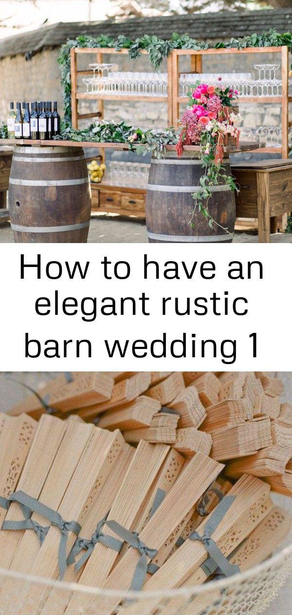 Een elegant rustiek schuurhuwelijk hebben 1
