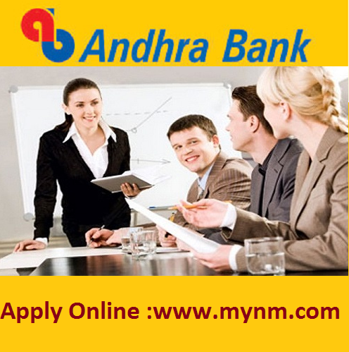 Andhra Bank Recruitment 2017 Training manager, Classroom