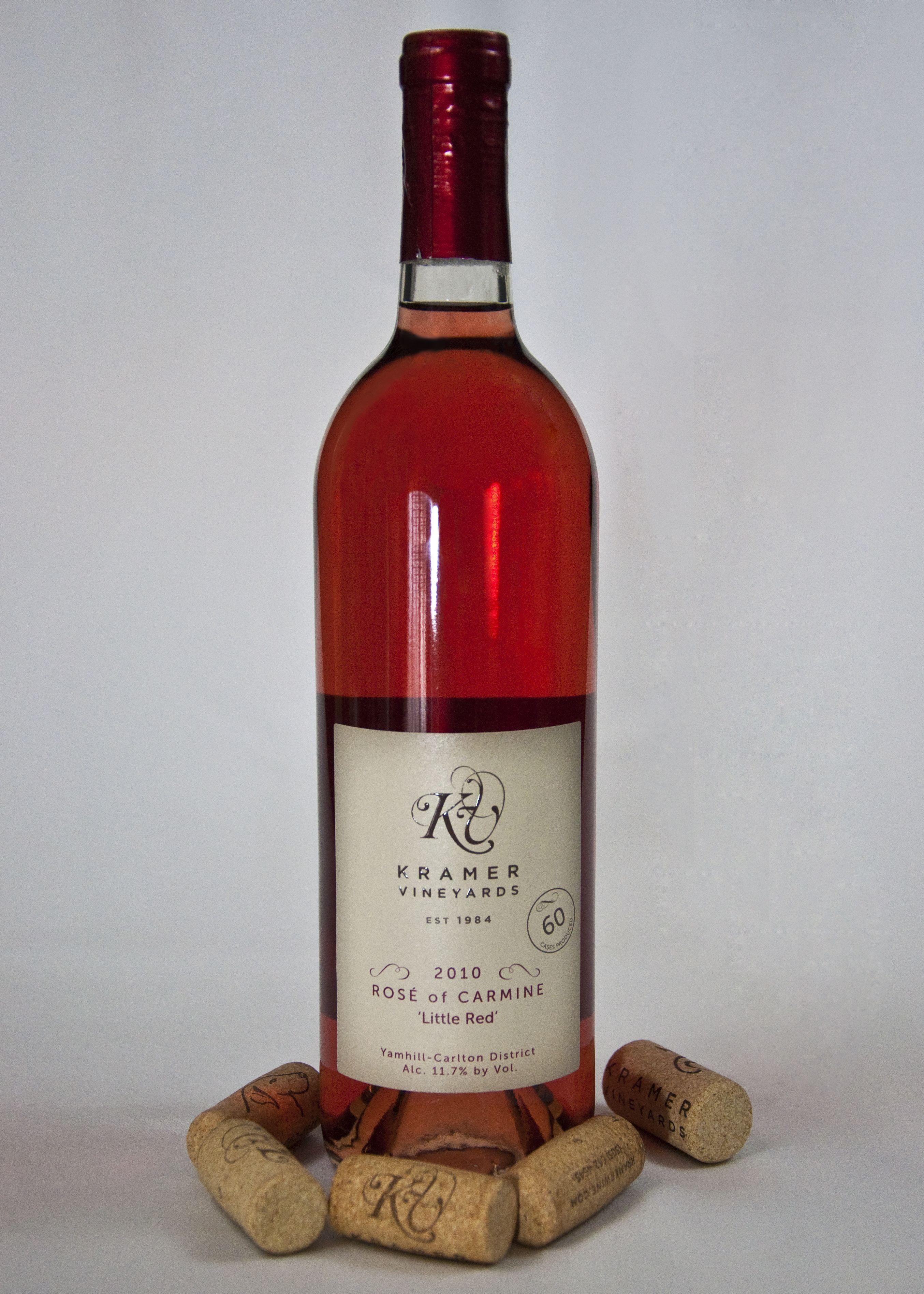 2010 Rose Of Carmine This Rose Rocks Www Kramerwine Com Wine Bottle Rose Wine Bottle Wines