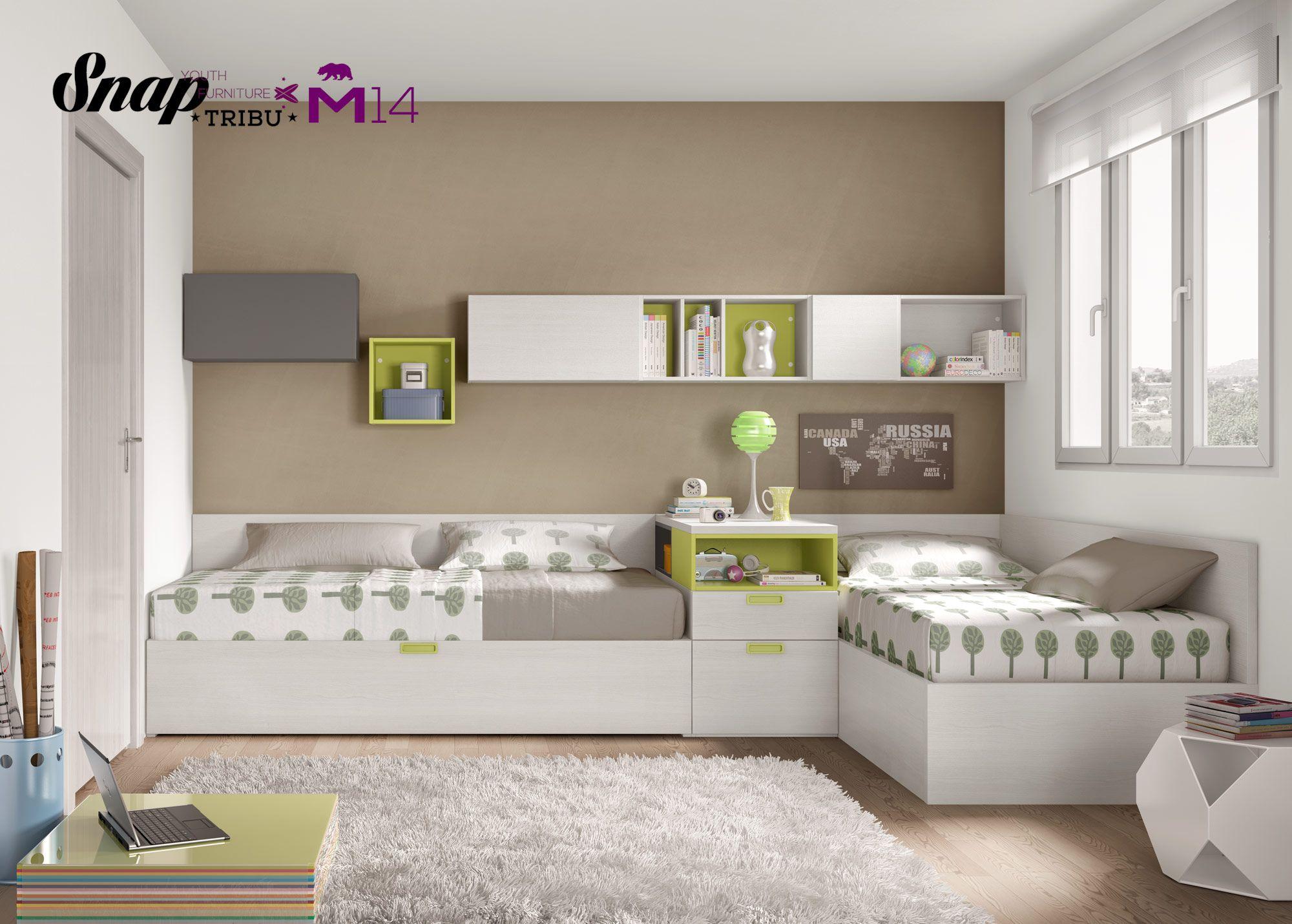 Tribu snap muebles hermida mueble juvenil m14 for Dormitorio juvenil nina
