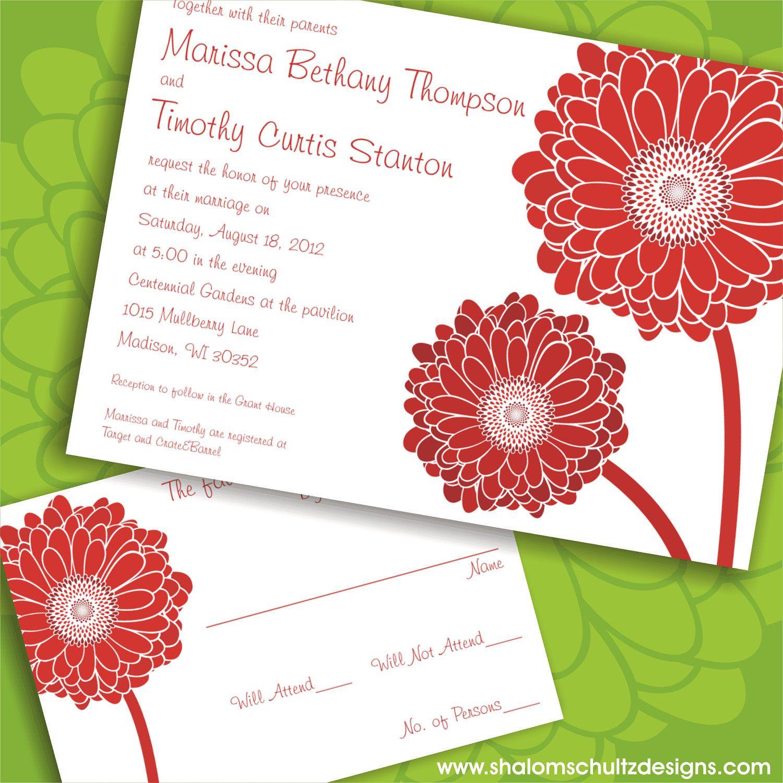gerber daisy wedding invitation - Google Search | Wedding ...