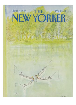 Sempé - The New Yorker cover, 1987
