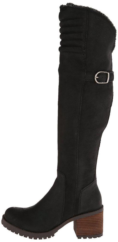 BRONX BOOTS Brown Suede Studded Wrap Buckle Knee High Boho Moto Biker Shoes 8