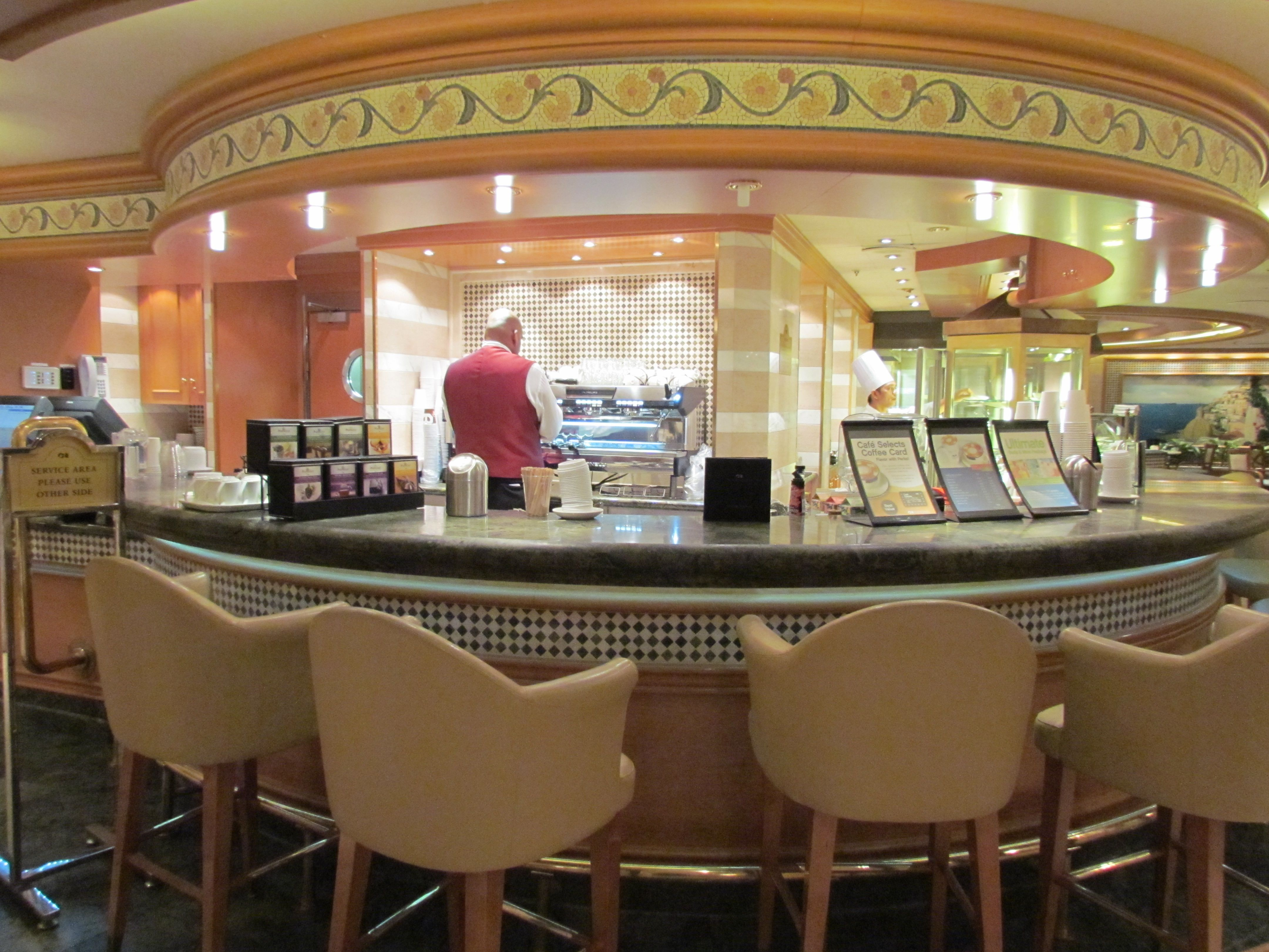 International Café bar (coffee, tea, juice) Ruby Princess