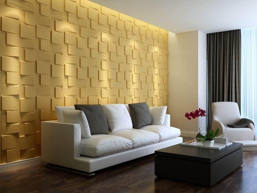 Modern Contemporary Block Design 3D Glue on Wall Panel Plant Fiber ...