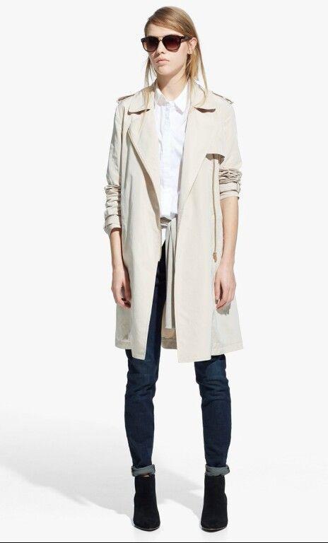 Mango Trencz Plaszcz Wiatrowka Bogart M 5698867952 Oficjalne Archiwum Allegro Coats For Women Fashion Dark Blue Skinny Jeans