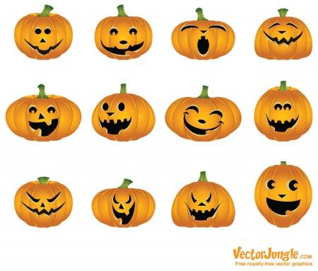 Jack-o-lantern faces #Halloween | holidays | Pinterest | Herbst ...