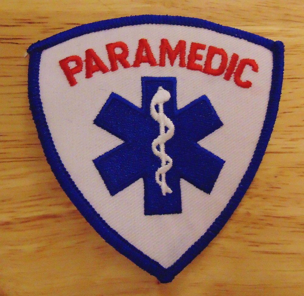 "Paramedic Patch, 3.5"" tall x 3.5"" wide, brand new Paramedic"