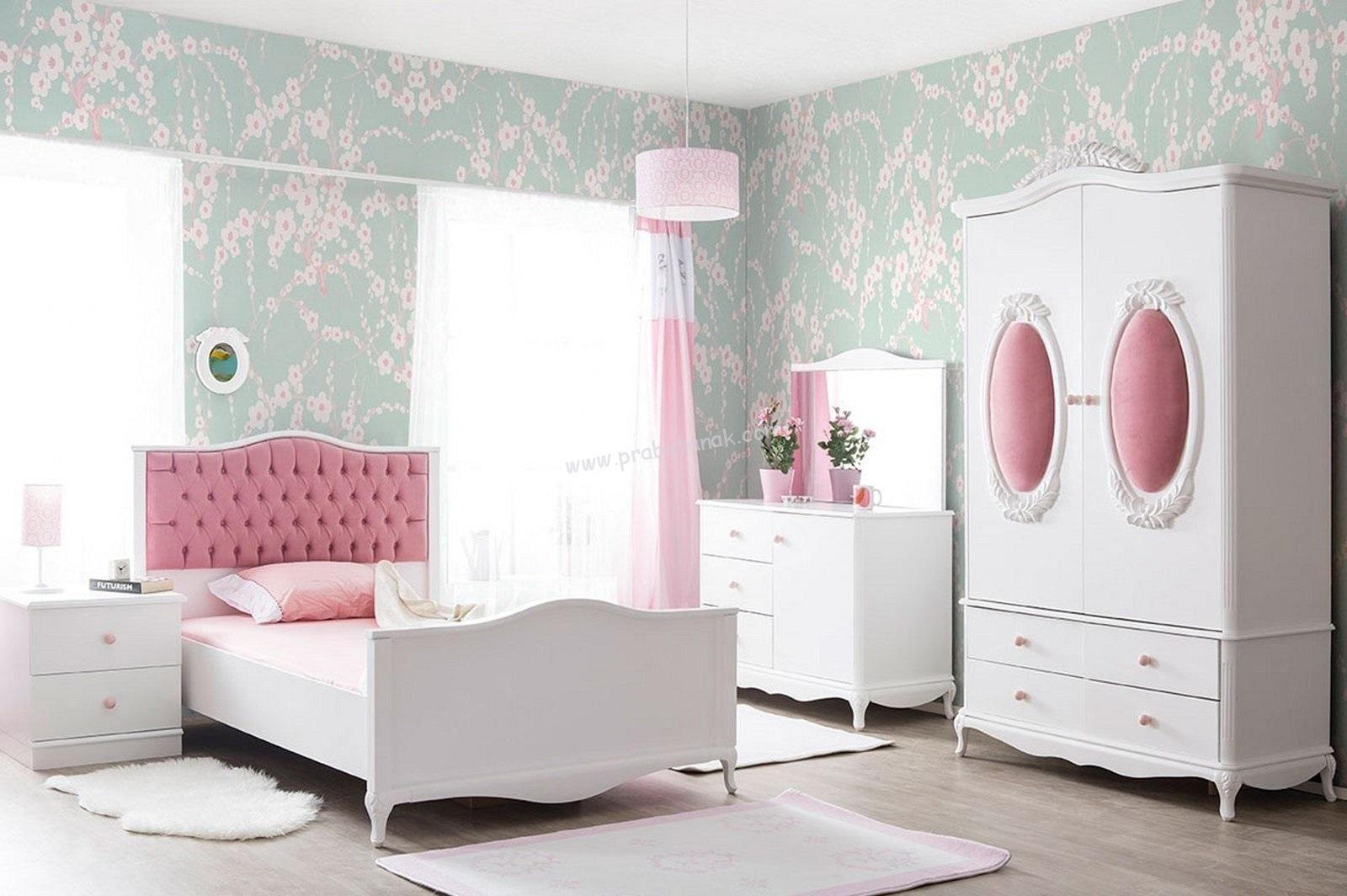 Tempat Tidur Anak Perempuan Murah White Pinky Kamar anak