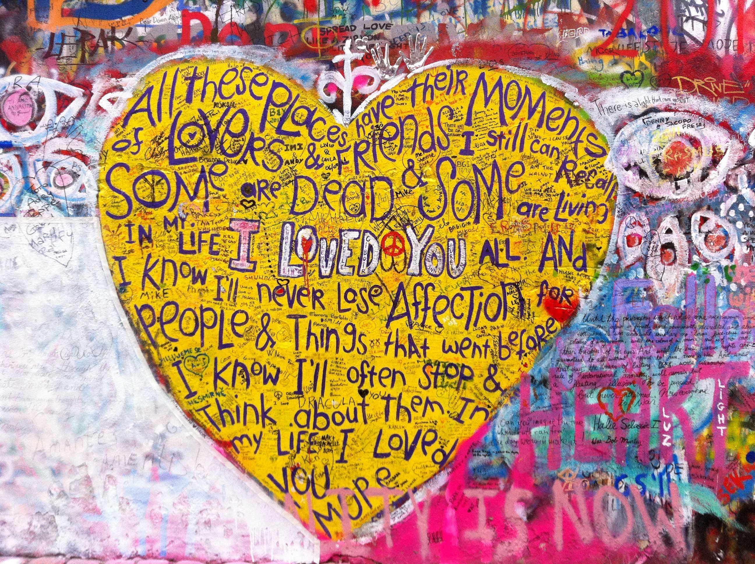 John Lennon wall - Prag | Visual Statements | Pinterest | John lennon