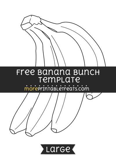 photo relating to Banana Template Printable identified as Free of charge Banana Bunch Template - Weighty Styles and Templates
