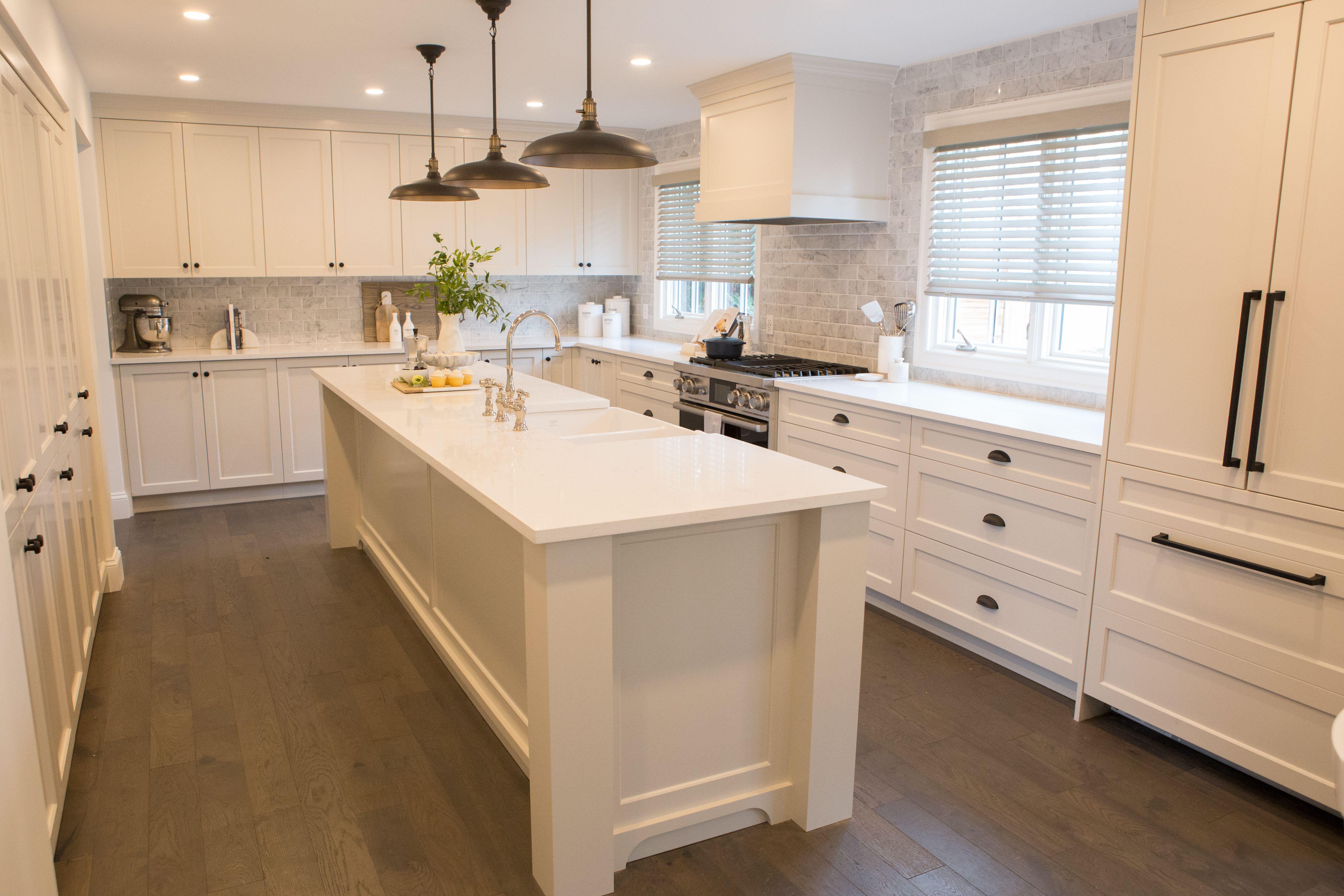 Custom Cabinetry Property Brothers Kitchen Wood Floor Kitchen Kitchen Island Storage