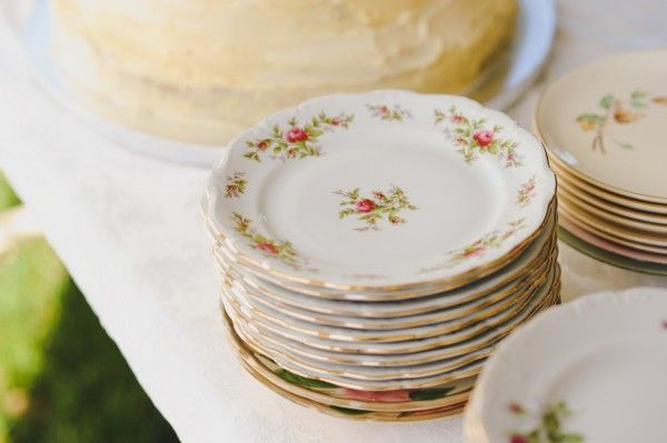 I Love This Whole Wedding But Especially Idea Of Serving The Food On Fancy China Plates