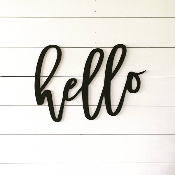 Hello Welcome Sign Word Cutout Wood Words Wood Letter ($32) ❤ liked ...