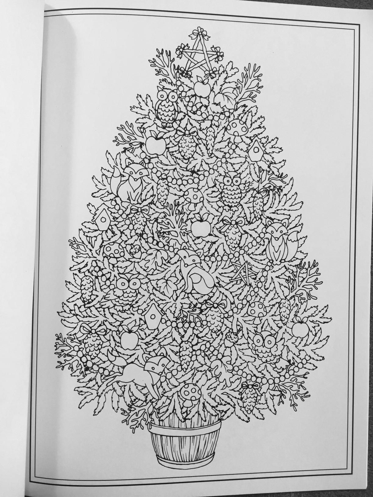 Amazon Prime Now Creative Haven Christmas Trees Coloring Book Adult 0800759803903