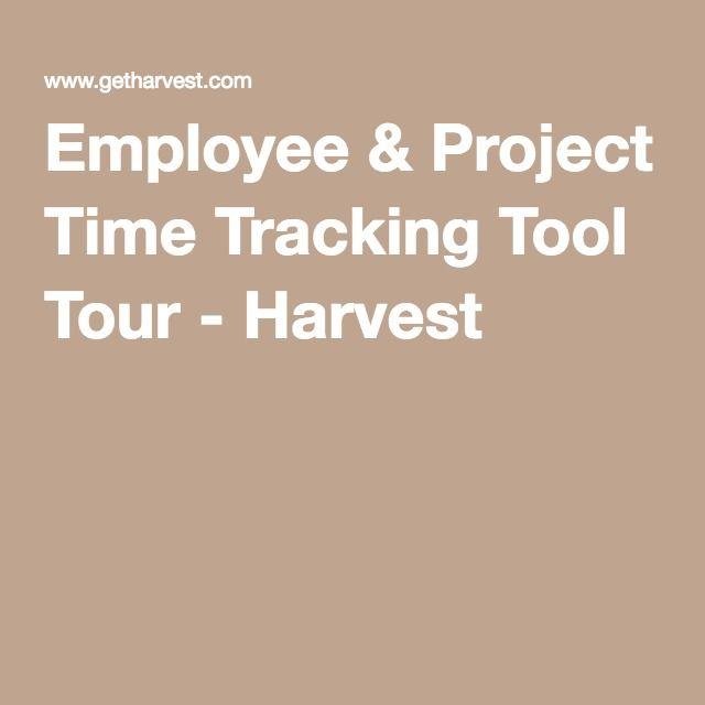 Employee  Project Time Tracking Tool Tour - Harvest $12US p/m