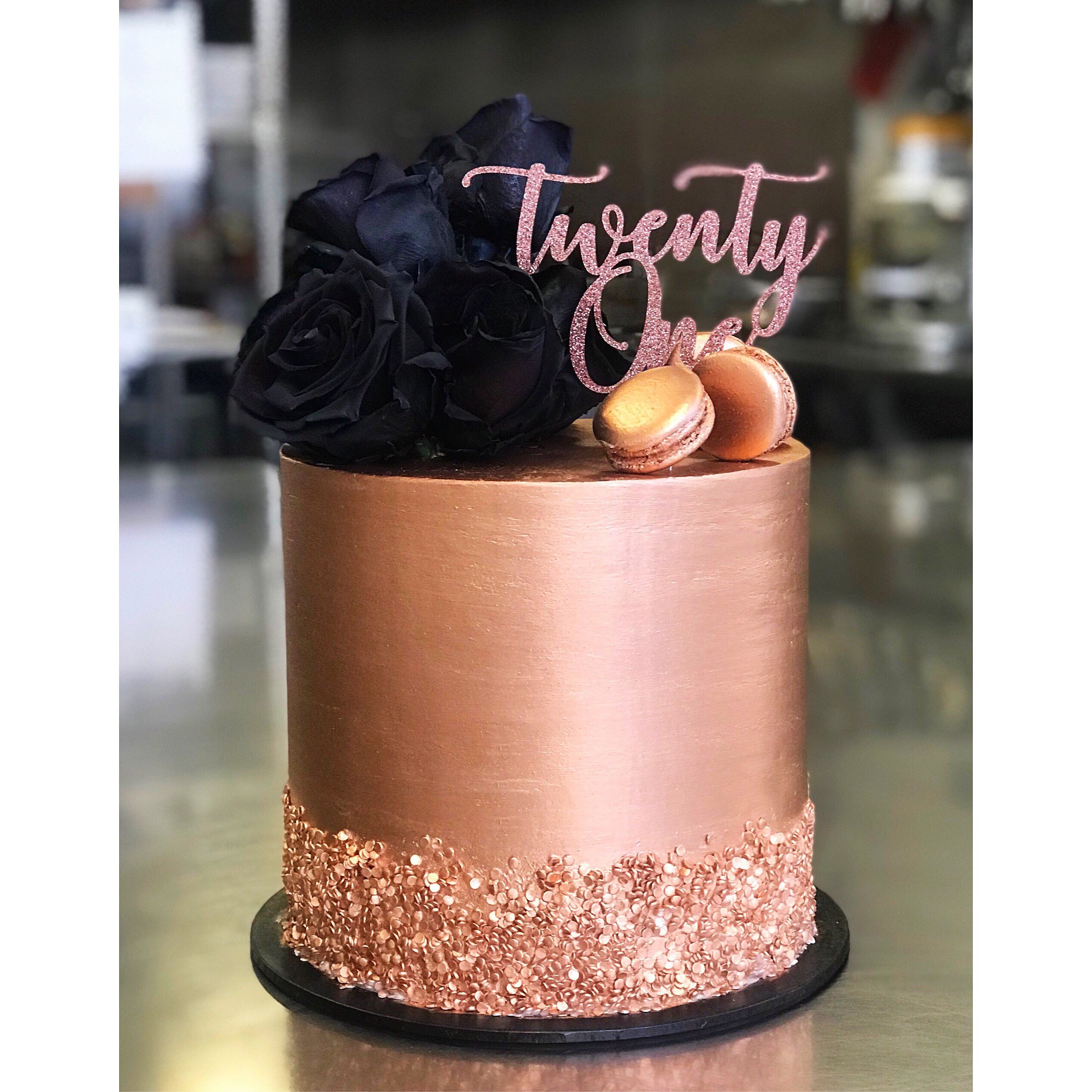 Rose Gold Cake Topper New Birthday Cake Elegant Birthday Cakes