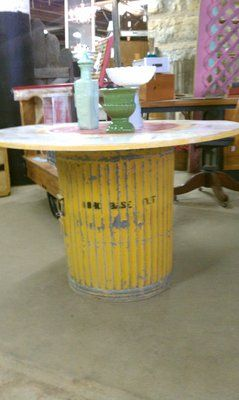 Marvelous Galvanized Trash Can Table Base