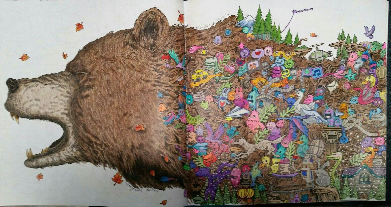 The Bear From Animorphia Adult ColoringColoring BooksColouringThe