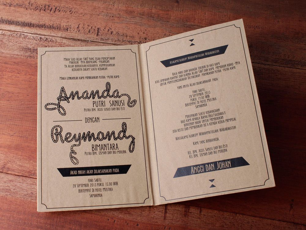 Konsep Undangan Pernikahan Indonesia - A Wedding Invitation 37 - best of invitation text adalah