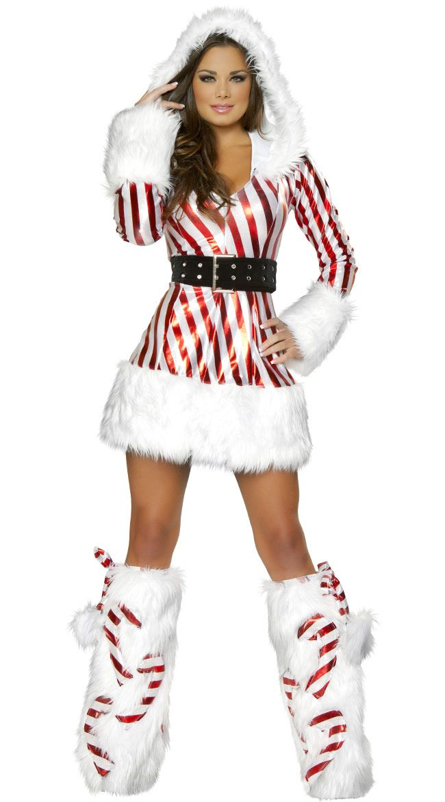 Women/'s Santa Claus Christmas Costume Midi Dress Hooded Cape Fancy Dress Outfits