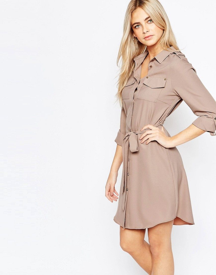 Fashion+Union+Belted+Shirt+Dress+with+Pockets | Dresses | Pinterest ...