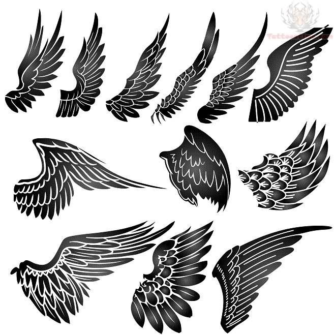 Wing Tattoo Designs Angel Wings Tattoo Design Tatoo Pinterest