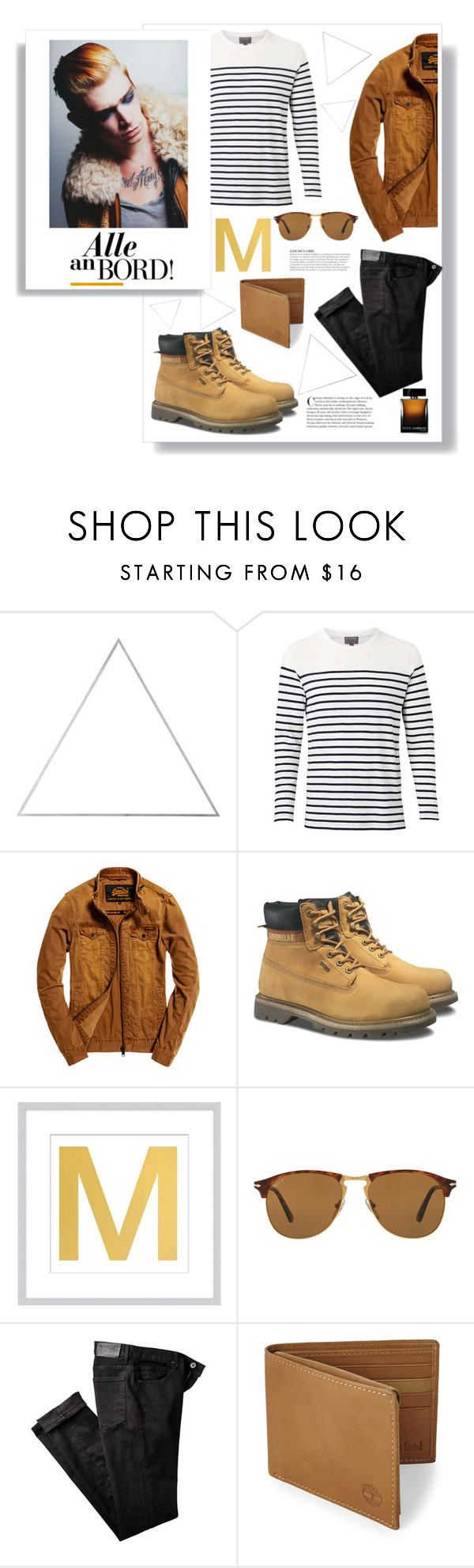 """""""On the low"""" by lolapastel ❤ liked on Polyvore featuring WALL, Witchery, Superdry, Caterpillar, Pottery Barn, Persol, Paige Denim, KAROLINA, Timberland and Dolce&Gabbana"""