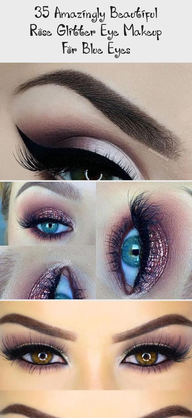 Photo of 35 Amazingly Beautiful Rose Glitter Eye Makeup For Blue Eyes – Beauty İdeas