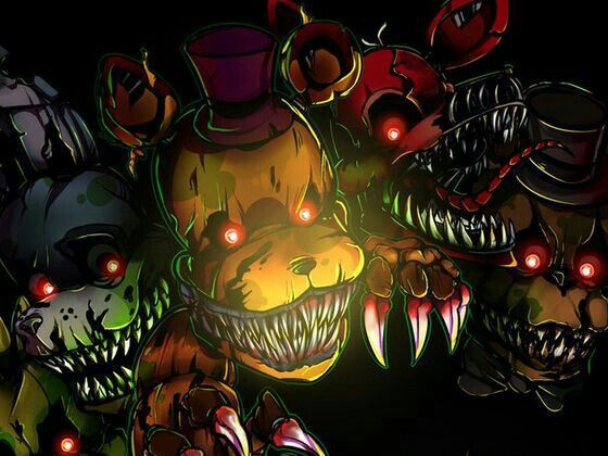 Chica Bonnie Golden Freddy Foxy Freddy Animatronics Five