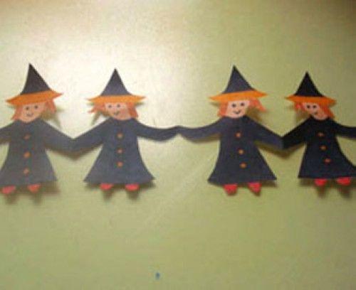 Basteln Mit Kindern Kostenlose Bastelvorlage Halloween Bastelvorlage Halloween Hexen Girlande Fasching Basteln Mit Kindern Fasching Basteln Basteln