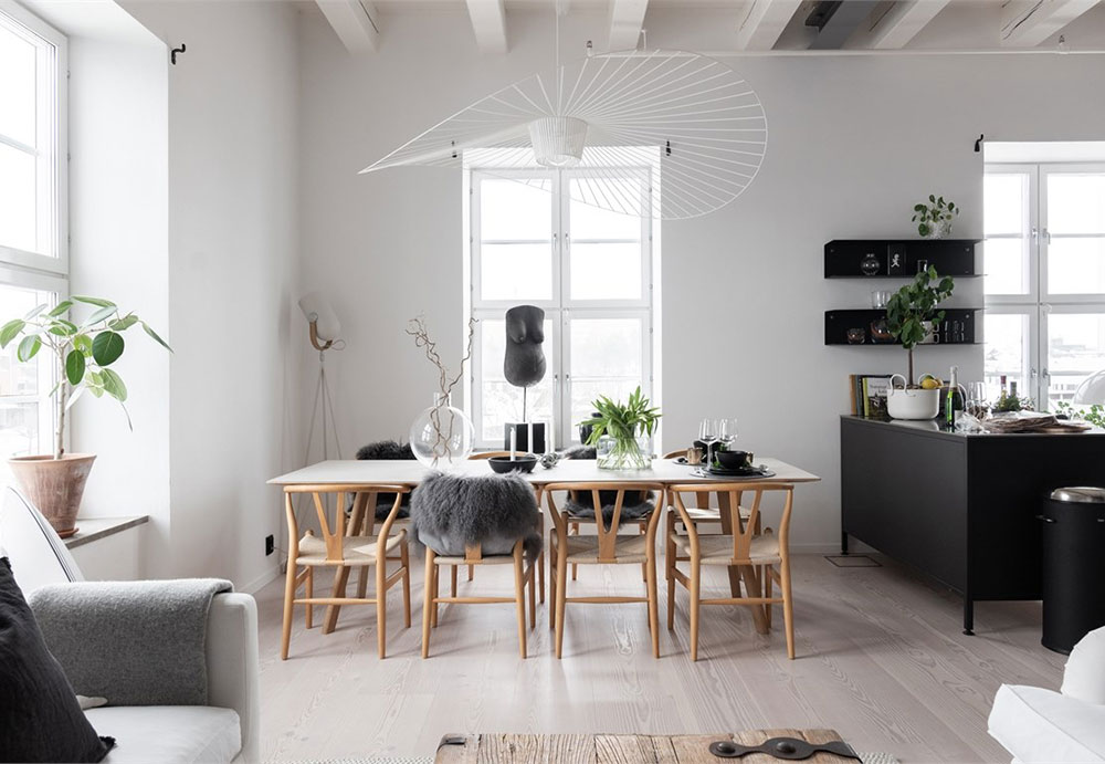Industrial Scandinavian Design In Black And White Photos Ideas Design Living Room Scandinavian Interior Design Nordic Living Room